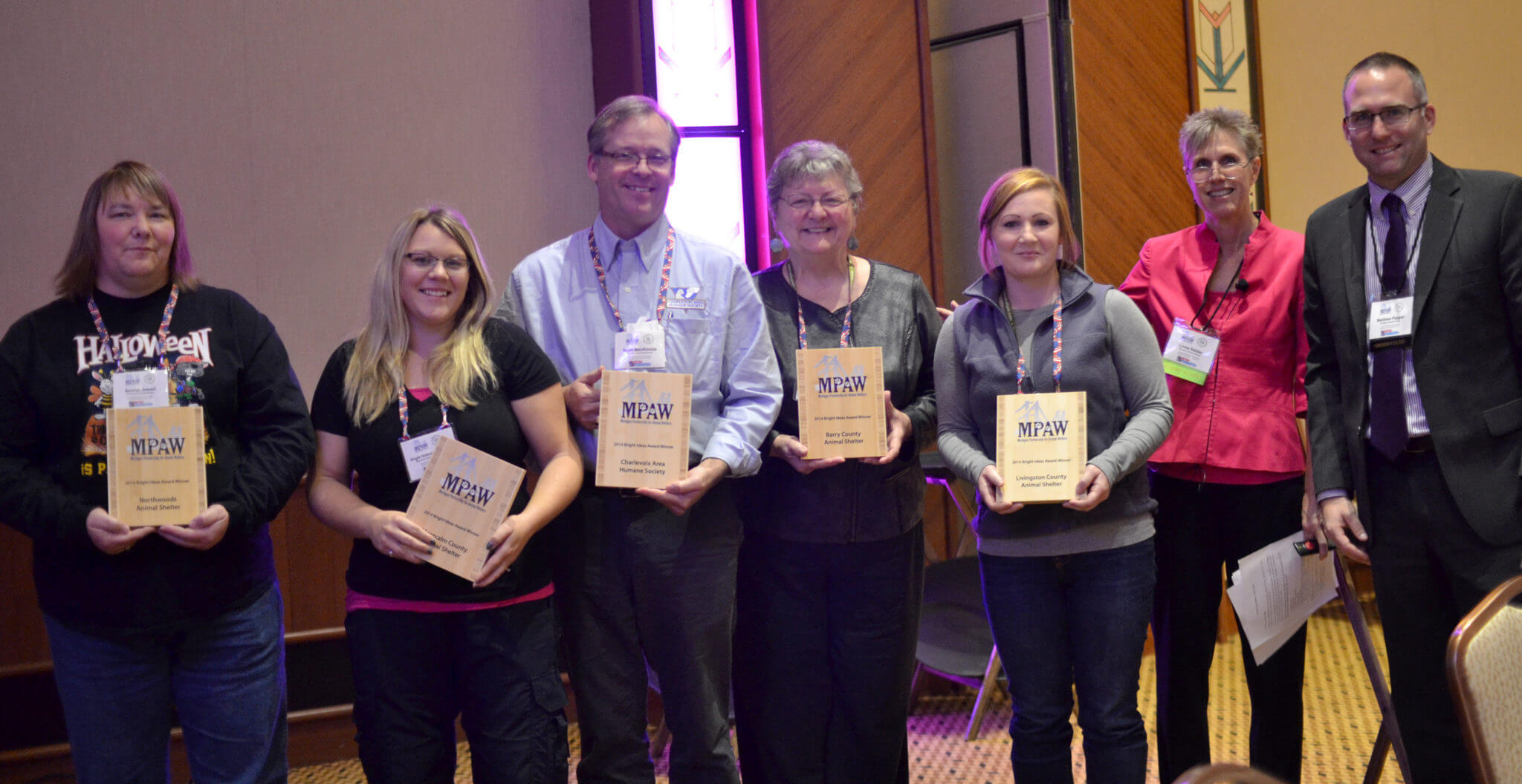 "Some Michigan animal welfare groups were awarded ""Bright Idea Awards"" for their great programs and facility improvements, community outreach and ordinances. They shared these great and innovative ideas in an afternoon session."