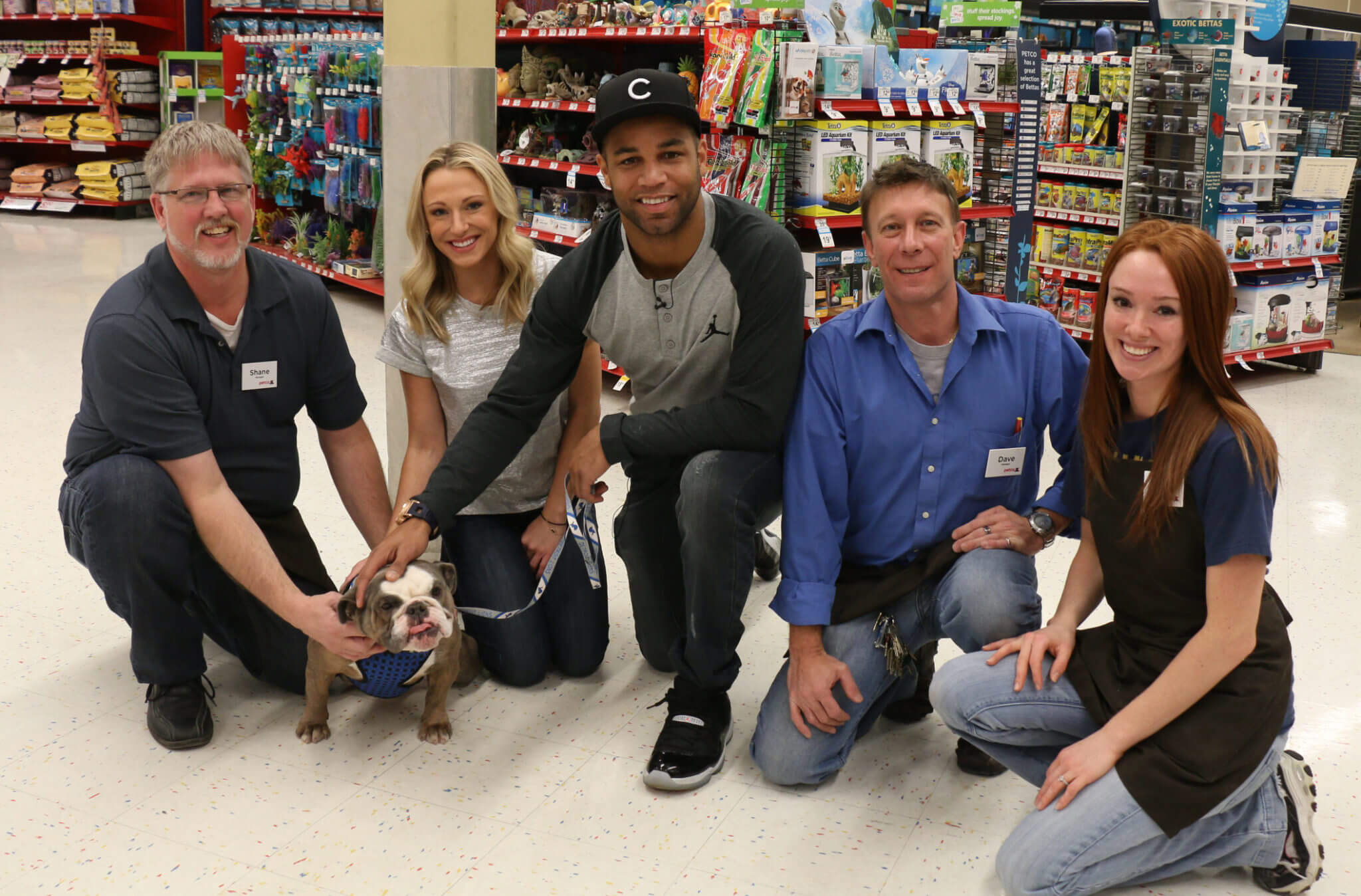 Elise and Golden took their foster Rosie to Petco to spoil her with great treats and toys!
