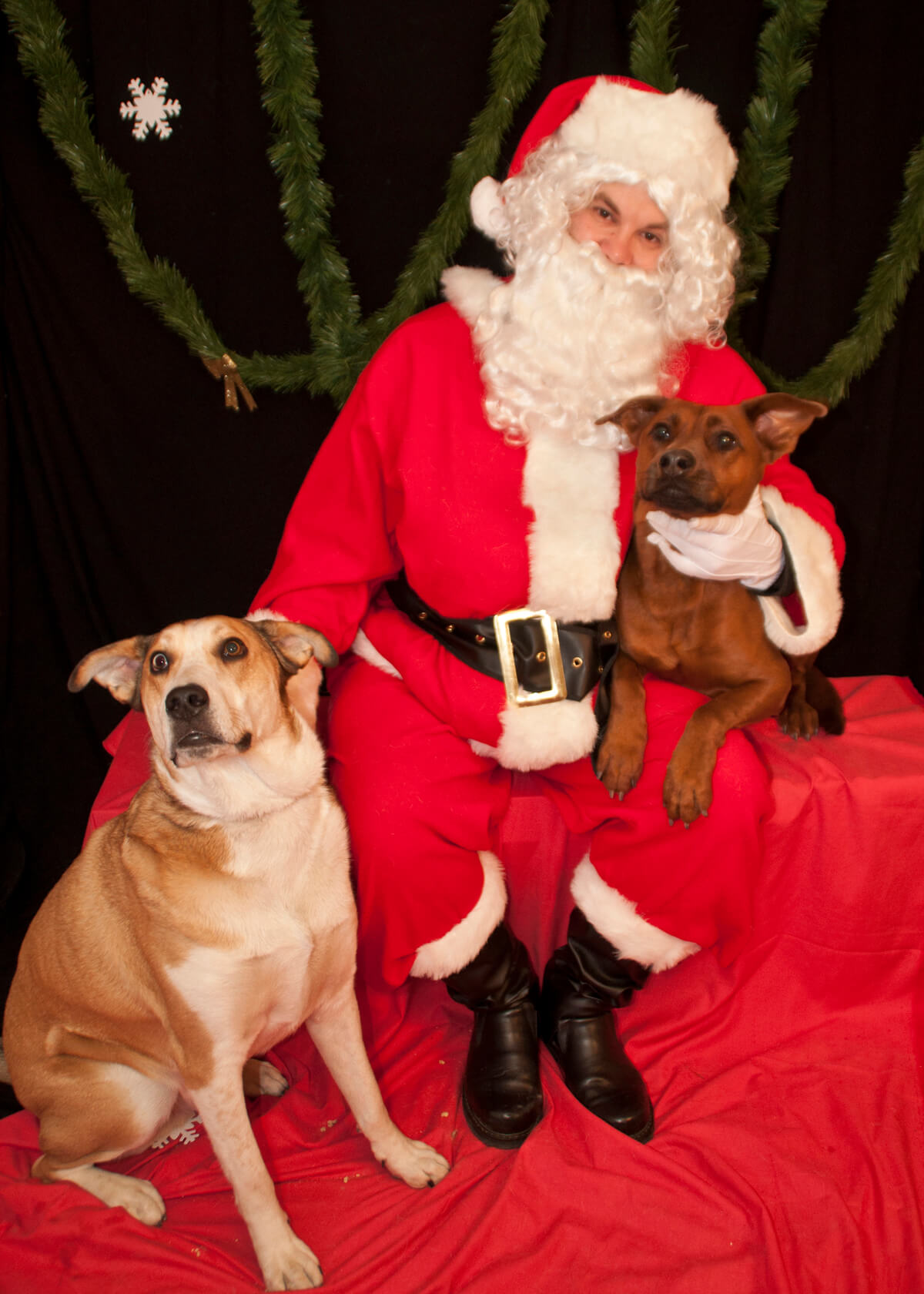 Stoney and Jemma with Santa