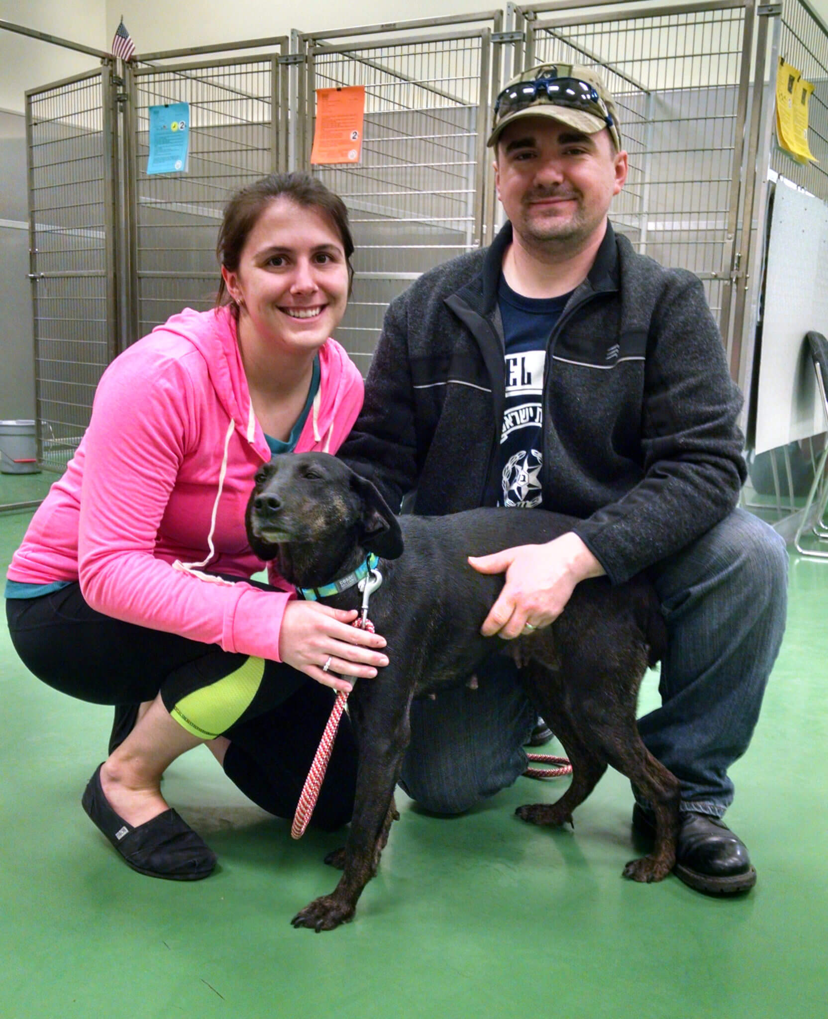 Mabel and her lovely new parents!
