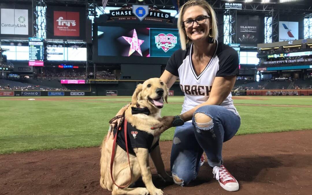 Hero Dog Todd Honored by Arizona Diamondbacks