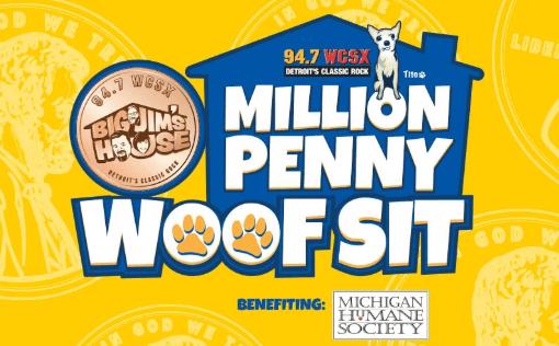 94.7 WCSX Million Penny Woof Sit