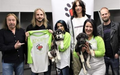 Members of Judas Priest Show Softer Side With Rescue Dogs