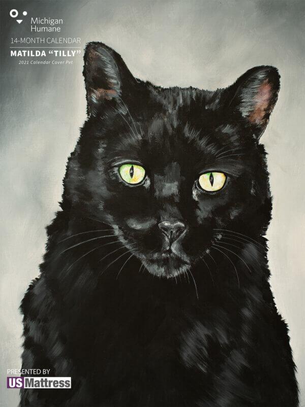 Michigan Humane 2021 Pet Calendar Cover